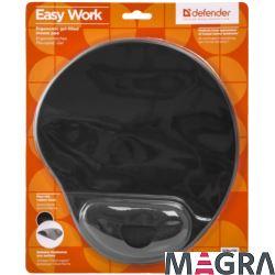 DEFENDER Podkładka pod mysz Easy Work czarna