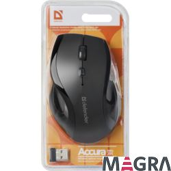 DEFENDER Bezprzewodowa mysz Accura MM-295, czarna