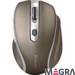DEFENDER Bezprzewodowa mysz Safari MM-675 brązowa