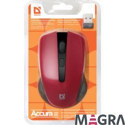 DEFENDER Bezprzewodowa mysz Accura MM-935, red