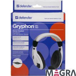 DEFENDER Zestaw słuchawkowy Gryphon 750 biały