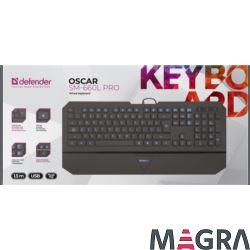 DEFENDER Klawiatura Oscar SM-660L Pro