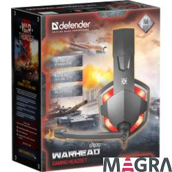 DEFENDER Słuchawki gamingowe Warhead G-370 red