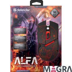 DEFENDER przewodowa mysz gamingowa Alfa GM-703L