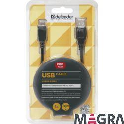 DEFENDER Kabel USB09-03PRO USB2.0 AM-C Type, 1.0 m