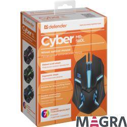 DEFENDER Przewodowa mysz Cyber MB-560L czarna